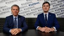 Dacian Ciolos si Dan Barna in studioul HotNews.ro
