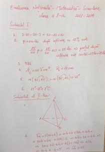Rezolvare Clasa VIIIa 1