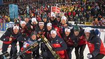 Norvegia, campioana mondiala la biatlon, in proba de stafeta mixta simplu