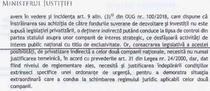 Document al Ministerul Justitiei