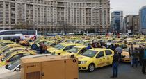 Protest taximetristi Piata Victoriei
