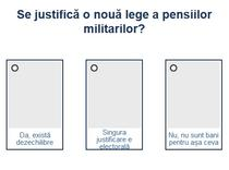 Sondaj pensiile militarilor