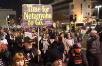 Manifestatie contra Netanyahu