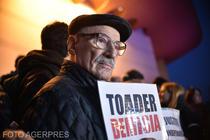 Victor Rebengiuc la protest