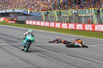 Trecerea liniei de sosire in MotoGP