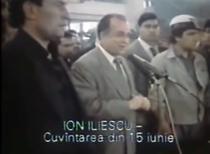 Ion Iliescu, la mineriada din 90