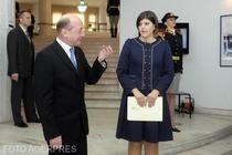 Traian Băsescu și Laura Kovesi