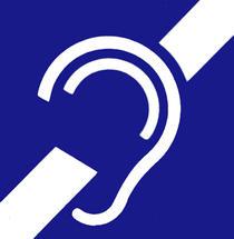Simbol pentru surzenie sau auz deficitar