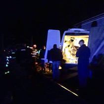 Imagine de la locul accidentului
