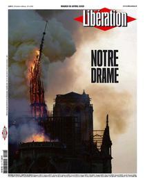 FOTOGALERIE Presa franceza despre incendiu de la Notre-Dame