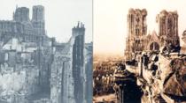 Catedrala Din Reims, dupa bombardamentele din 1914
