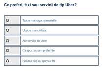 Sondaj taxi-Uber