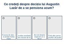 Sondaj pensionare Augustin Lazar