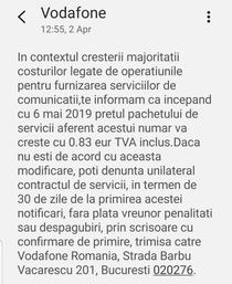 Cresteri de preturi la Vodafone