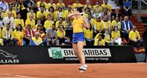 Simona Halep, in FedCup
