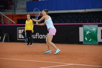 Irina Begu, la antrenament