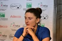 Irina Begu, in lacrimi la conferinta de presa