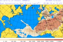 Norul de praf saharian va afecta si Romania