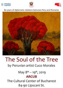 """Expozitia """"Sufletul copacului"""" a artistului peruan José Antonio """"Cuco"""" Morales Velit"""