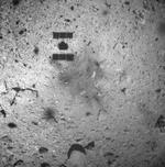 Imagine capturata dupa aterizarea pe asteroid