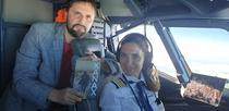Liviu Iancu in avion