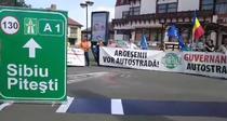 Protest pentru construirea Autostrazii Sibiu-Pitesti