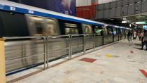 Peronul statiei de metrou Victoriei