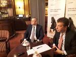 Antonios Mouzas si Cornel Stanescu, CEO și deputy CEO Vista Bank Romania