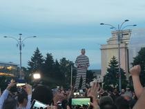 Manifestatie in Piata Victoriei