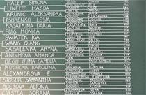 Tabloul feminin de simplu de la Roland Garros