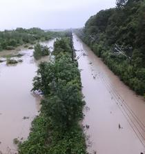 Linia Valea Calugareasca - Ploiesti Est, inundata