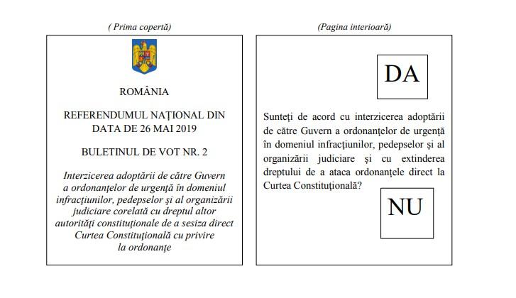 Imagini pentru vot referendum 2019