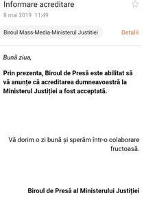 Mesajul primit de Ionela Arcanu