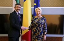 Dancila, întâlnire cu ministrul de Externe al Emiratelor Arabe Unite
