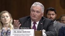 Adrian Zuckerman, audiat in Senatul SUA