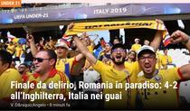 Romania vs Anglia, Gazzetta dello Sport
