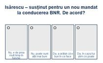 Sondaj Mandat Isarescu - BNR