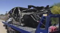 Masina lui Reyes dupa accident