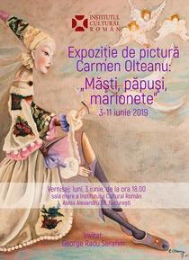 """Expozitia """"Măşti, păpuşi, marionete"""", de Carmen Olteanu"""