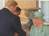 Trump și regina Elisabeta a II-a