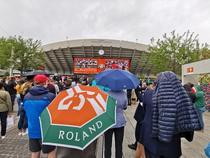 Ploua la Roland Garros