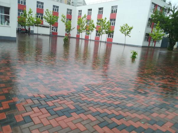 Dupa ploaie in curtea scolii 88 sector3