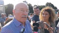 Victor Rebengiuc, la protest