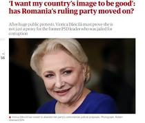 Viorica Dăncilă, in The Guardian