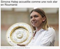 Simona Halep, primita ca un star rock in Romania