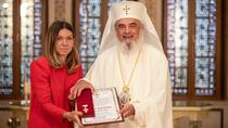 Simona Halep si Patriarhul Daniel