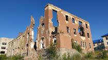 Cladire bombardata in zona Slaviansk