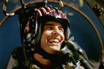 Tom Cruise, in Top Gun (1986)