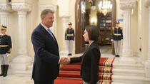 Maia Sandu si Klaus Iohannis