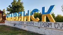 Intrarea in Slaviansk, ciuruita de gloante